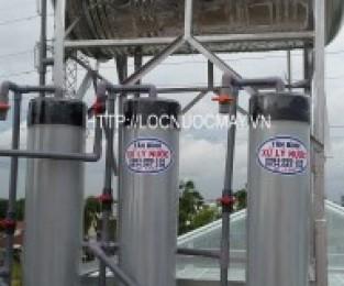 Loc nuoc may 3 tru nhua PVC